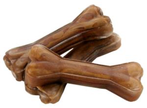 Kauknochen 12 cm aus reiner Pferdehaut fuer Welpen