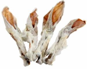 Kaninchenohren mit Fell