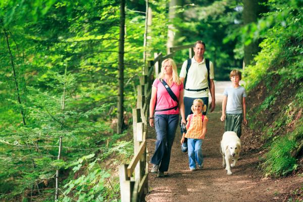 Wandern in der Natur ist ideal im Urlaub mit dem Hund geeignet