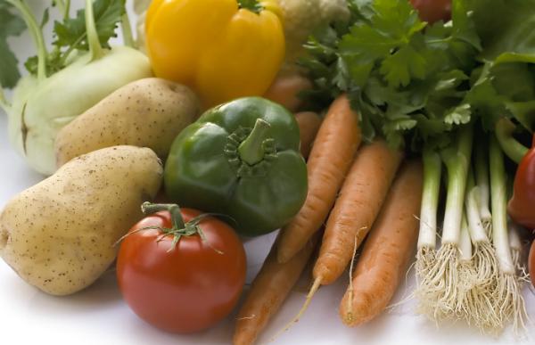 Gemüse für die Zubereitung daheim