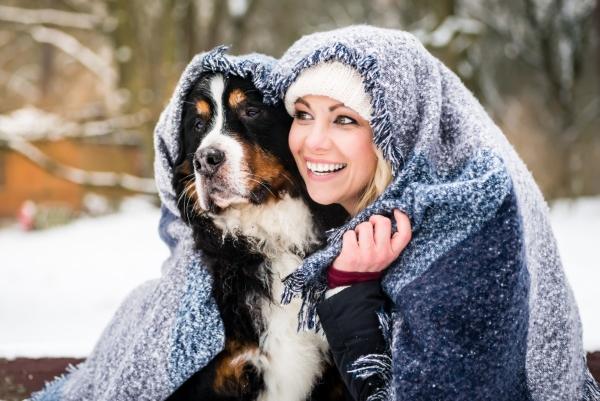 winterwanderung-hund-decke