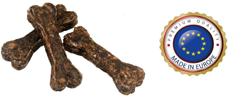 Senior-Kauknochen 100% Hirschhaut - ca.12cm - Qualität von Hundefutter und Kausnacks