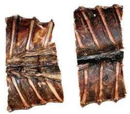 Rückenstücke vom Wildschwein geschnitten - Wildfleisch für Hunde