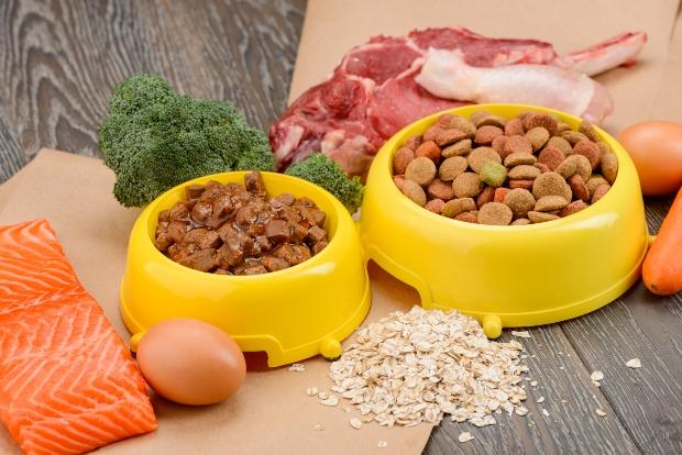 Diverse Futtermittel für Hunde