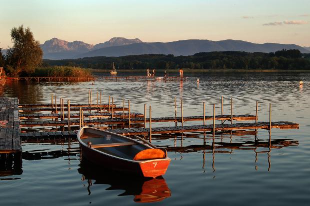 Waginger See im Chiemgau - Urlaub mit Hund am See