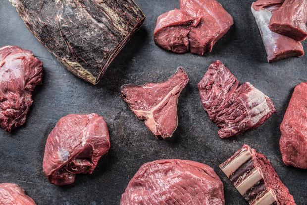 Diverse Rindfleischstücke