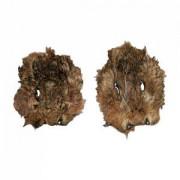 Wildhasenmaske mit Fell - klein