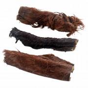 Pferdekopfhaut geschnitten mit Fell